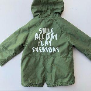 Zara | Baby Boy Army Green Coat Jacket